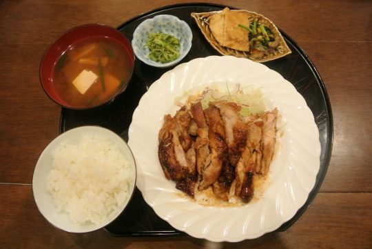 Teriyaki chicken dinner